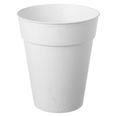 Maceta cónica de plástico blanco