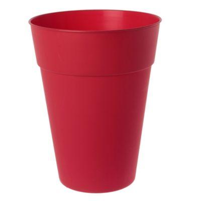 Maceta cónica de plástico roja