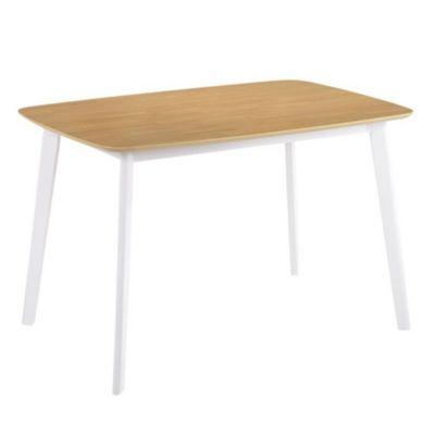Mesa claire tapa madera 120 x 80 x 75 cm