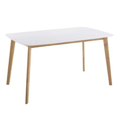 Mesa claire blanca 120 x 80 x 75 cm