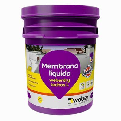 Membrana líquida para techos Weberdry teja 4 kg