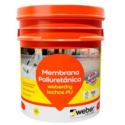 Membrana poliuretánica para techos Weberdry blanco 4 kg