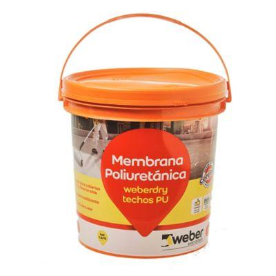 Membrana poliuretánica para techos Weberdry verde 4 kg