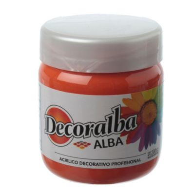 Acrílico naranja brillante 200 ml