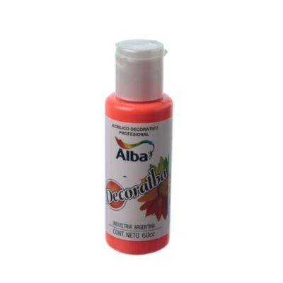 Acrílico rojo fluo 60 ml