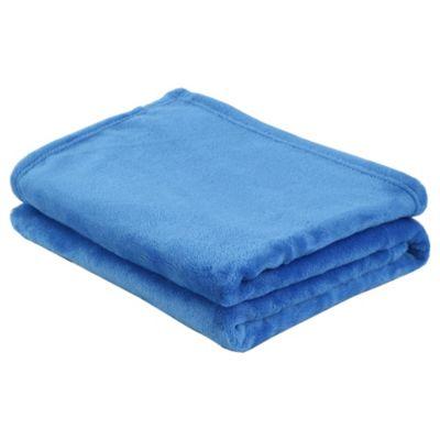 Manta flanel 110 x 140 cm azul