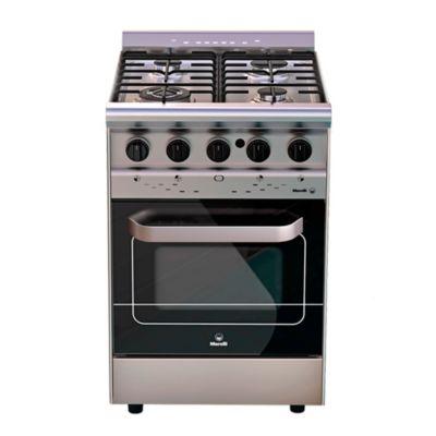Cocina a gas Forza 550 55 cm 4 hornallas acero