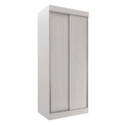 Placard corredizo 2 puertas roble y blanco