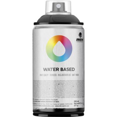 Pintura en aerosol al agua negro 300 cc