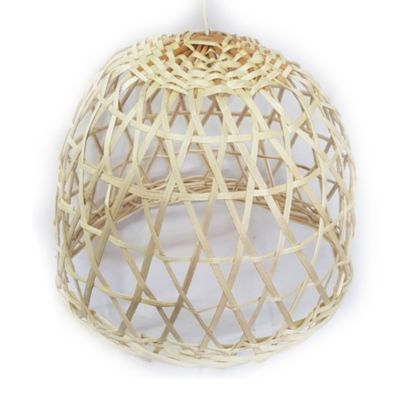 Lámpara colgante jaula mimbre 30 x 30 cm 1 luz