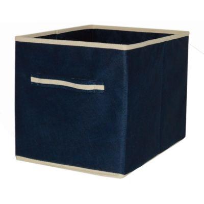 Caja organizadora con tapa 30 x 40 x 25 cm azul