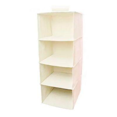 Organizador colgante 5 estantes 27 x 29 x 12 cm beige