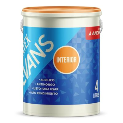 Pintura látex interior mate 4 l