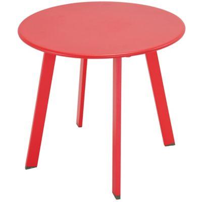Mesa de exterior de apoyo redonda 50 cm roja