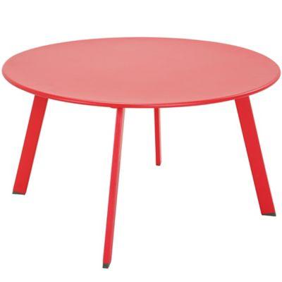 Mesa de exterior de centro redonda 70 cm roja