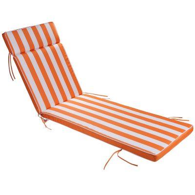 Almohadón para reposera naranja 196 x 60 x 10 cm