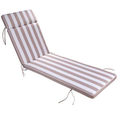 Almohadón para silla beige 196 x 60 x 10 cm