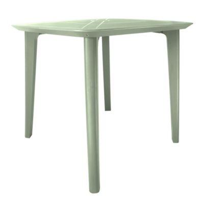 Mesa de exterior cuadrada 85 cm verde claro