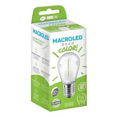 Lámpara LED filamento 1 w Verde