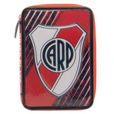 Cartuchera rectangular River Plate 1 piso