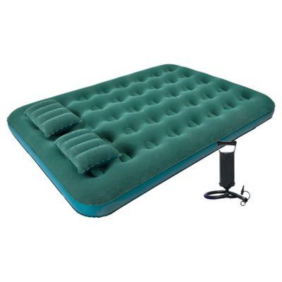 Colchón inflable doble + 2 almohadas + inflador