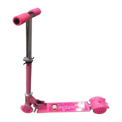 Scooter metálico rosa