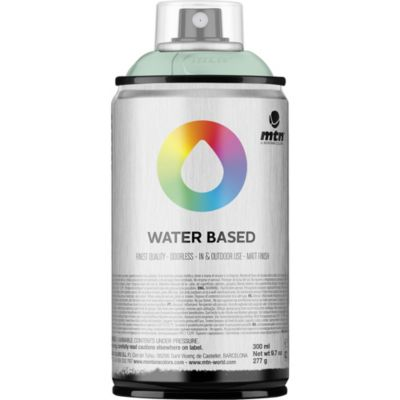 Pintura en aerosol al agua verde azul 300 cc