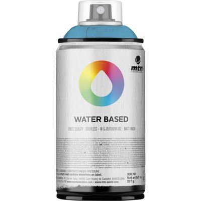 Pintura en aerosol al agua azul claro 300 cc