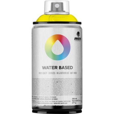 Pintura en aerosol al agua amarillo flúor 300 cc