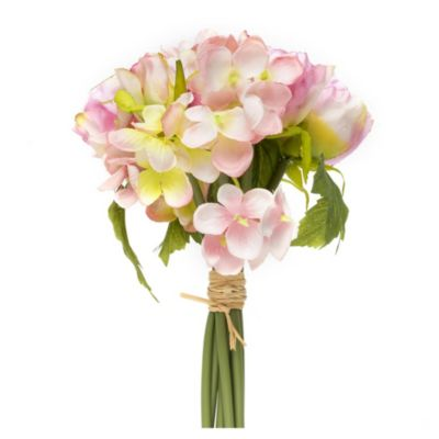 Flor artificial bouquets rosa 30 cm