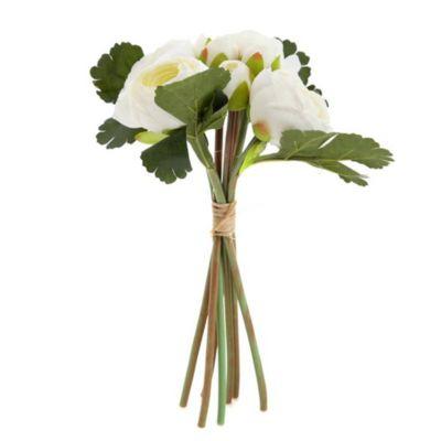 Flor artificial Bouquets blanca 24 cm