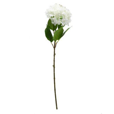 Flor artificial Hydrangea blanca 80 cm