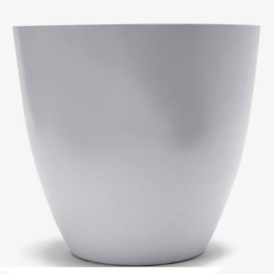 Maceta circular plástica blanca 30 cm