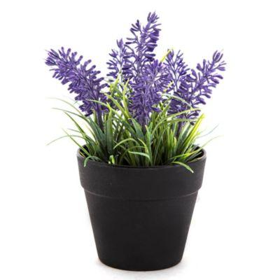 Flores artificiales lavanda 11 x 11 x 18 cm