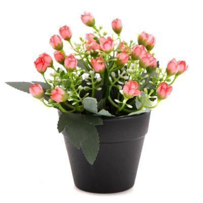 Flores artificiales rosas 18 x 14 x 14 cm