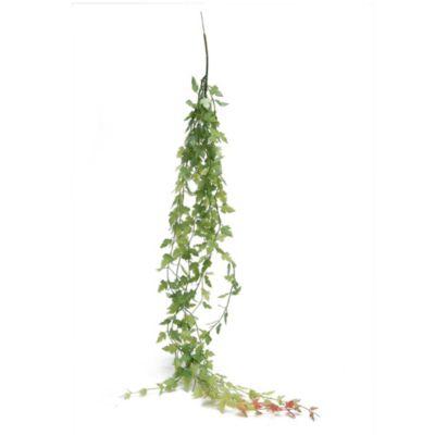 Flor artificial ramas verde y rojo 80 cm
