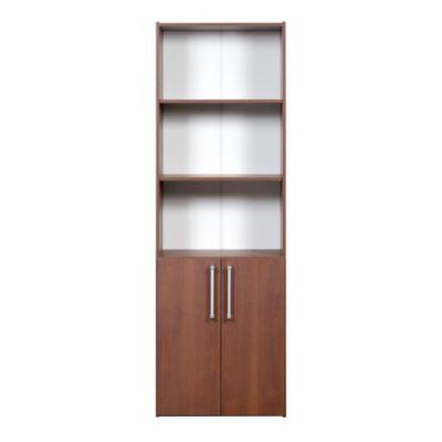 Biblioteca 2 puertas 3 estantes mesina nogal