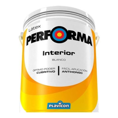Pintura látex interior performa blanco 20 L