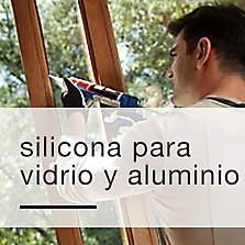 Silicona para vidrio y aluminio