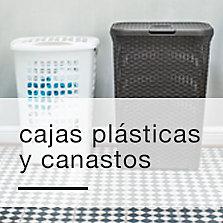 Cajas plásticas y canastos