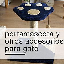 Portamascota y otros accesorios para gato