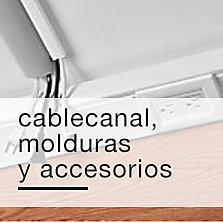 Cablecanal, molduras y accesorios