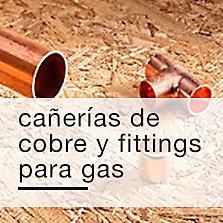Cañerías de cobre y fittings para gas
