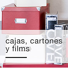 Cajas, cartones y films