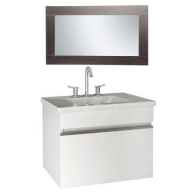 Combo para baño: Vanitory + Espejo Melani blanco