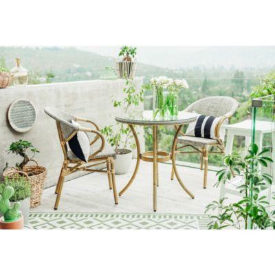 Juego de exterior Milano mesa + 2 sillas